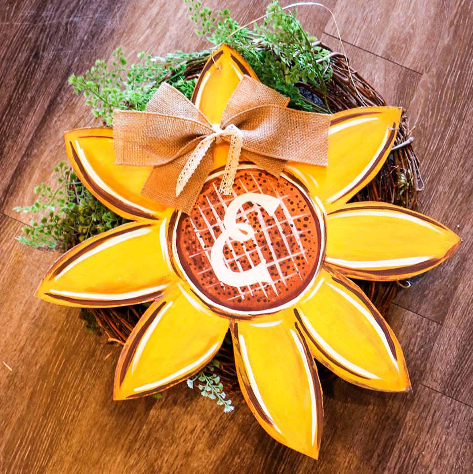 09/12/19 10-12pm Moms morning out Sunflower or FALL leaf Door Hanger Workshop
