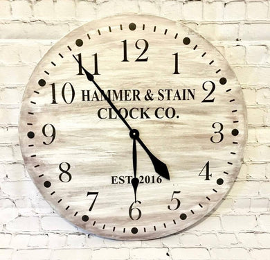05/20/2019 (6-8pm) Rustic Clock Workshop ($85)