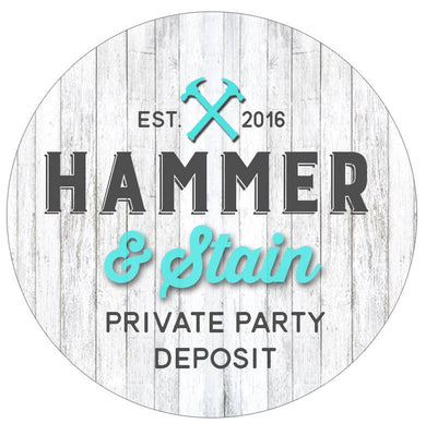 10/29/18 10am  Private Party Deposit