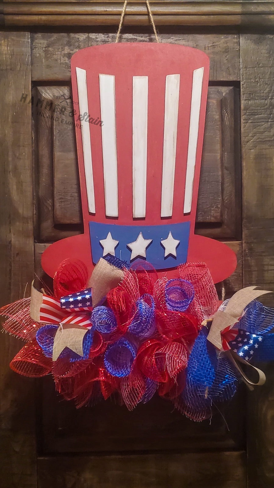 Uncle Sam Wreath Doorhanger Kit Options
