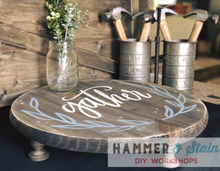 Mini Farmhouse Table or  platter stand
