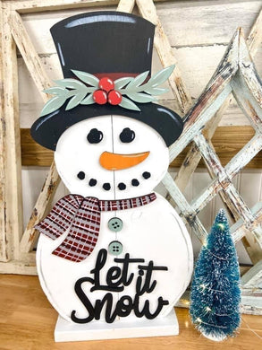 Let it Snow Standing Snowman 12 Day Collection