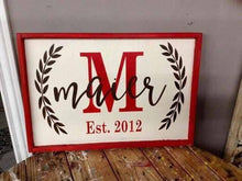 Small framed sign 12x24