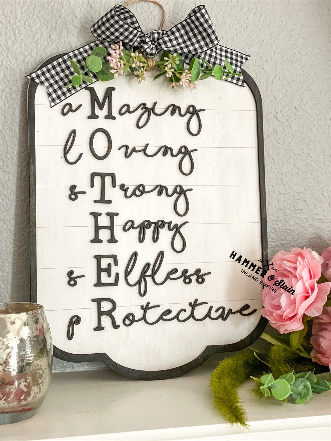 MOTHER quote sign