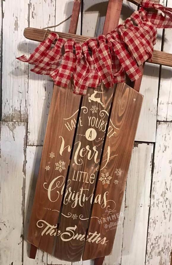11/05/2017 (2pm) Rustic Decorative Sled (Gainesville)