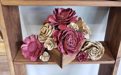 05/10/19 6-8pm  Wood Flower Bouquet Arrangement Workshop