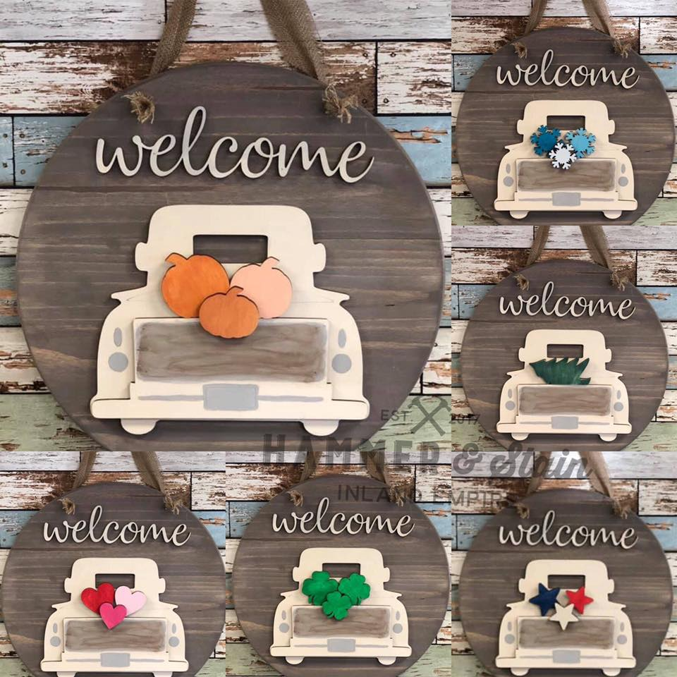12/19/19 6-8pm Interchangeable WELCOME Truck Door hanger Workshop