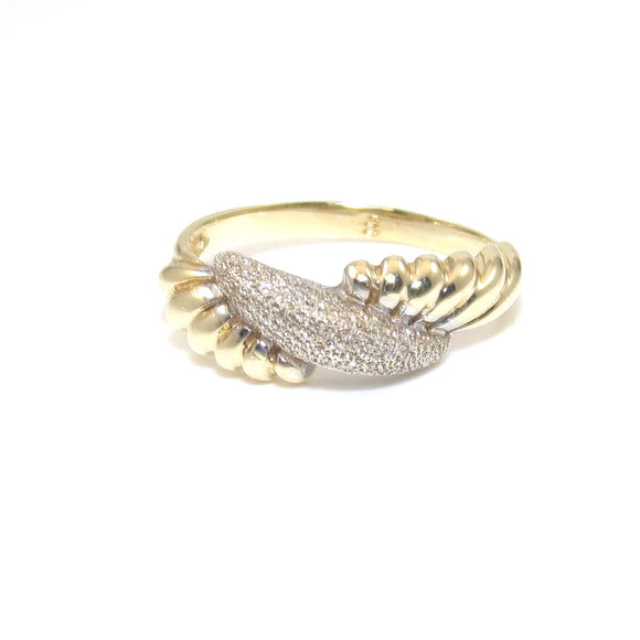 14K Yellow Gold Beverly Hills Gold Band Ring Size 5.5, CMDSHINE