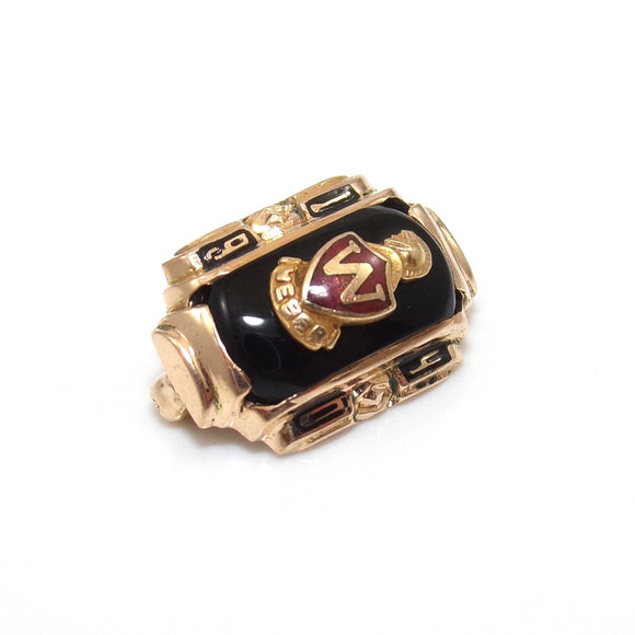 Vintage 10K Yellow Gold 1940 Black Onyx Weber High School Class Pin, CMDSHINE
