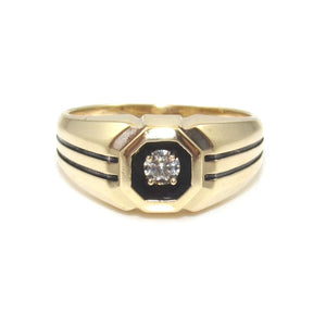 14K Yellow Gold Natural Diamond Ring Size 8.75