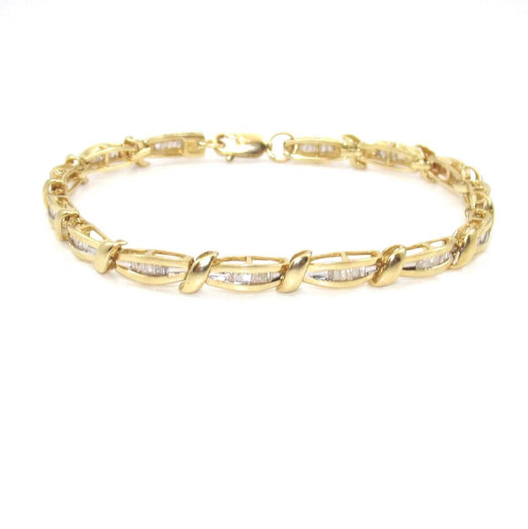 14K Yellow Gold 1.00 ct Natural Diamond Bracelet