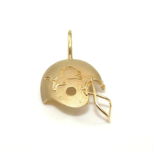 Michael Anthony 14K Yellow Gold Detroit Lions NFL Football Helmet Pendant