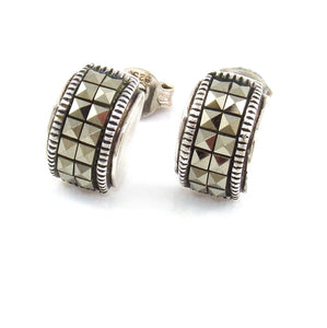 Judith Jack Sterling Silver Marcasite Stud Post Earrings