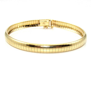 14K Yellow Gold Italy Omega Chain Bracelet