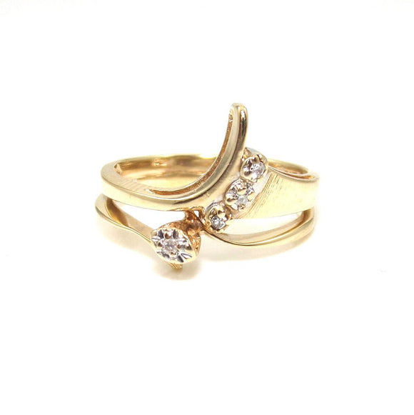 10K Yellow Gold Diamond Ring Size 6