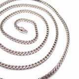 10K White Gold Men's Box Snake Chain Necklace 34""