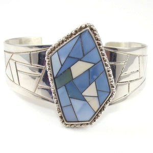 Jay King Desert Rose Trading DTR Sterling Silver Inlay Statement Cuff Bracelet,CMDSHINE