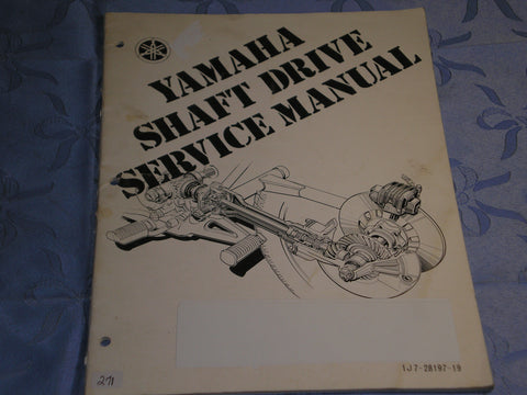 YAMAHA 1976 on   Shaft Drive Service Manual  1J7-28197-19  LIT-11616-77-01  #271