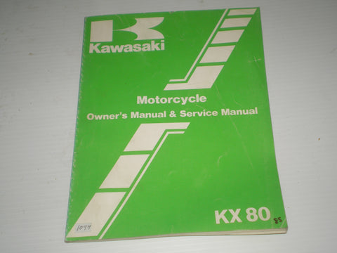 KAWASAKI KX80 G1 H1 1986  Owner's & Service Manual  99920-1326-04  #1097