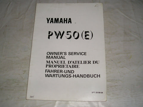 YAMAHA PW50 E  1993  Owner's Service Manual  3PT-28199-84  #1104