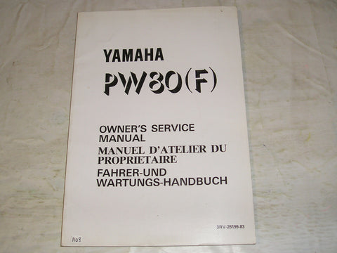 YAMAHA PW80 F  1994  Owner's Service Manual  3RV-28199-83  #1108