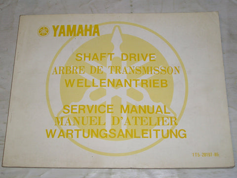 YAMAHA 1977  All Models  Shaft Drive Service Manual  1T5-28197-85 #1115