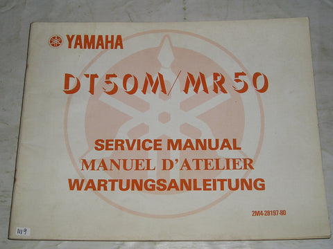 YAMAHA DT50 M  MR50  1978  Service Manual  2M4-28197-80  #1119