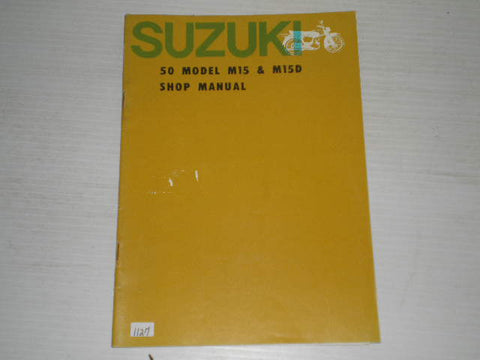 SUZUKI 50  Model M15  M15D  1964   Shop / Service Manual  #1127