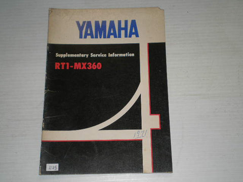 YAMAHA RT1 - MX360  1971  Service Manual Supplement  #1128