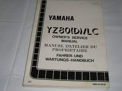 YAMAHA YZ80 D / LC  1992  Owner's Service Manual  3MM-28199-83  #1156