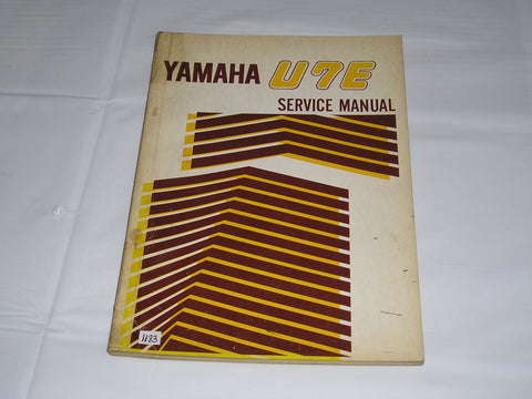 YAMAHA U7E  1972  Factory  Service  Manual   #1183