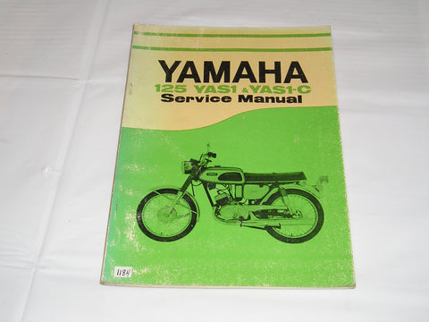 YAMAHA 125 Model  YAS1  YAS1-C  1971   Service Manual  #1184