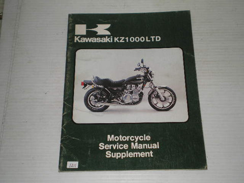 KAWASAKI KZ1000 B3 LTD 1979  Service Manual Supplement  99963-0012-01  #1211