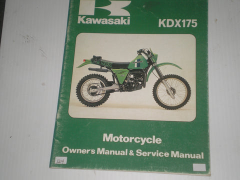 KAWASAKI KDX175 A2 1981  Owner's & Service Manual  99920-1122-01  #1214