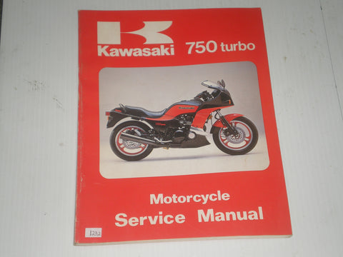 KAWASAKI ZX750 E1 Turbo 1984  Service Manual Supplement  99924-1049-51  #1232