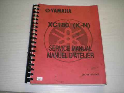 YAMAHA XC180 K-N  Riva Scooter  1983  Service Manual  26K-28197-70  #1238