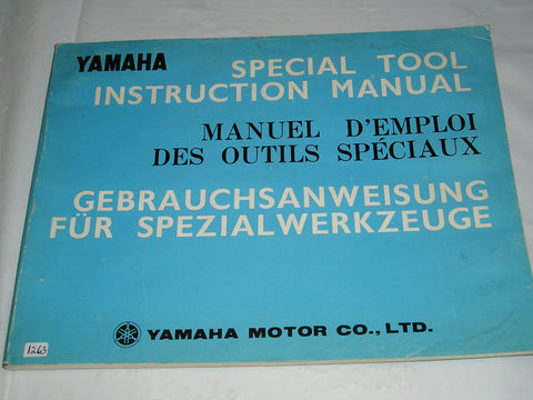 YAMAHA 1974 Special Tool  Instruction Manual   #1263