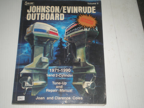 EVINRUDE & JOHNSON  Outboard Motor 1 & 2 Cylinder 1971-1990  Tune-up and Repair Marine Manual  #1301