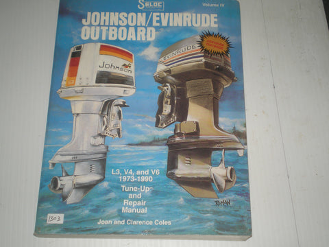 EVINRUDE & JOHNSON  Outboard Motor  L3 V4 V6  1973-1990  Tune-up and Repair Marine Manual  #1303