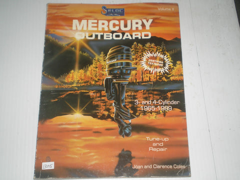 MERCURY Outboard Motor  3 & 4 Cylinder  1965-1989  Tune-up and Repair Marine Manual  #1305