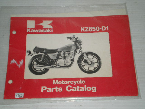 KAWASAKI KZ650 D1 1978  Parts Catalogue  99910-1024-01  #1366