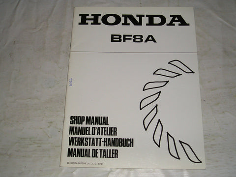 HONDA BF3A 1991 Outboard Motor Service Manual Supplement  6688122Z   #1052