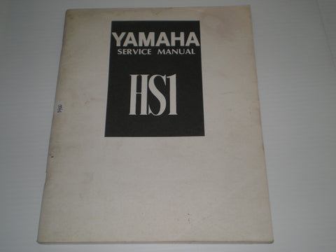 YAMAHA HS1  90cc  1970   Factory Service  Manual  #1400