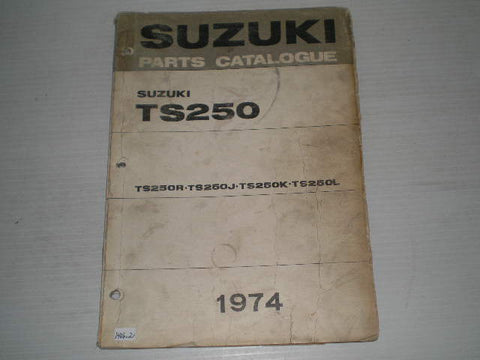 SUZUKI TS250  R/J/K/L  1974  Parts Catalogue  #1406.2