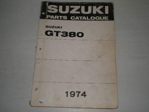 SUZUKI GT380  Sebring  J/K/L  1974  Parts Catalogue  #1406