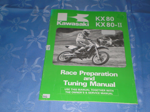 KAWASAKI KX80  KX80-II  1987  Race Preparation & Tuning Manual  99920-1390-01  #1416