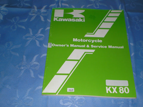 KAWASAKI KX80 G1 H1  1986  Owner's & Service Manual  99920-1326-01  #1419