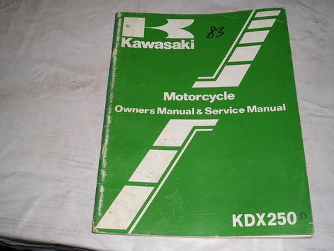 KAWASAKI KDX250 B3 1983  Owner's & Service Manual  99920-1215-01  #14