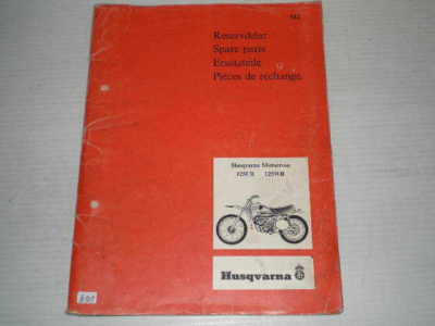 HUSQVARNA 125CR & 125WR Motocross  Parts Catalogue 10 12 009-96  #E91