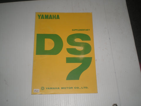 YAMAHA DS7  1971  Service Manual Supplement  #1521